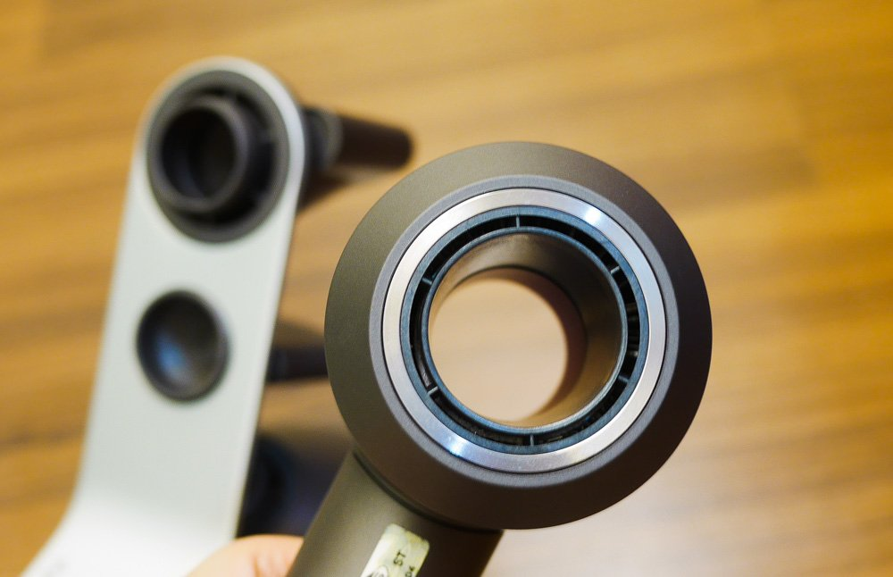 Closeup of Dyson Supersonic hairdryer