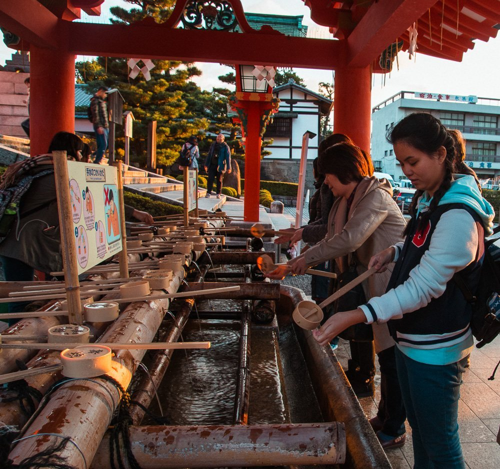 Shinto cleansing ritual at Fushimi Inari Shrine