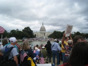 Tea Party protesters fill the West Lawn of the U.S. Capitol and the National Mall on September 12, 2009.