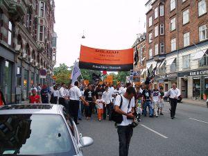 Hizb ut-Tahrir demonstrating in Copenhagen.