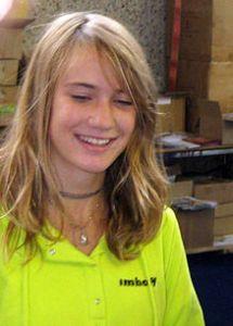 Laura Dekker, at the Hiswa Boat Fair, Amsterdam