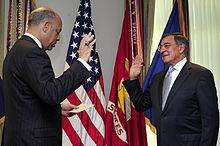 Panetta being sworn in as Secretary of Defense.