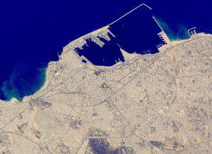 Libya: Satellite image of central Tripoli