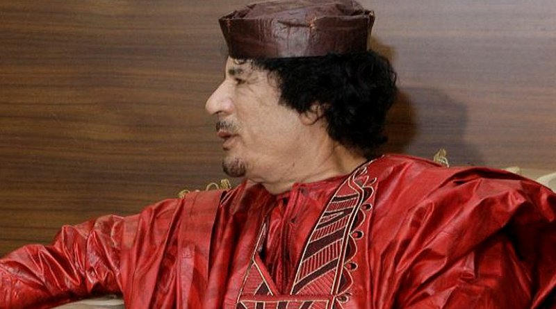 Libya's Muammar al-Gaddafi. Source: Spanish Prime Minister's Office. Wikipedia Commons.