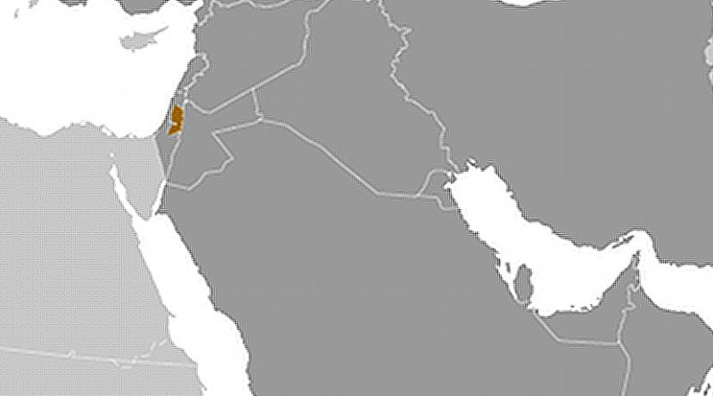 Location of Palestine. Source: CIA World Factbook.