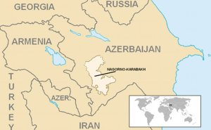 Location of Nagorno-Karabakh. Source: Wikipedia Commons.