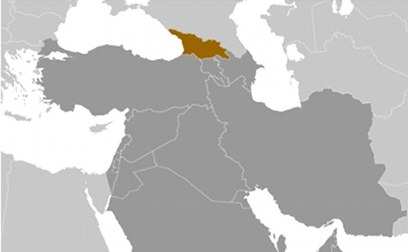 Location of Georgia. Source: CIA World Factbook.