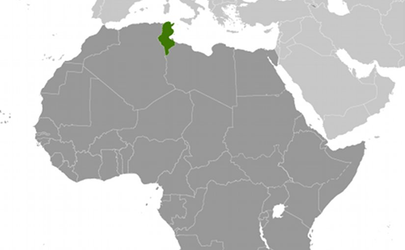 Location of Tunisia. Source: CIA World Factbook.