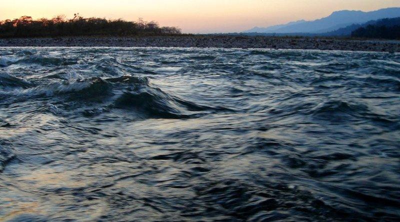 Manas River near Assam, India and Bhutan border. Photo by Dwimalu, Wikipedia Commons.