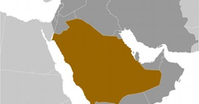 Location of Saudi Arabia. Source: CIA World Factbook.