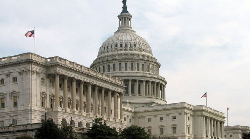 The Senate's side of the Capitol Building in Washington DC. Photo by Scrumshus, Wikipedia Commons.