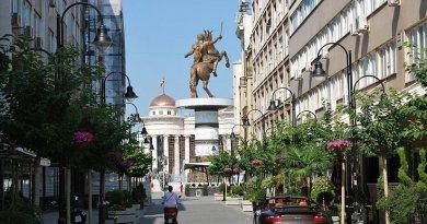 Skopje, North Macedonia. Photo by Rašo, Wikipedia Commons.