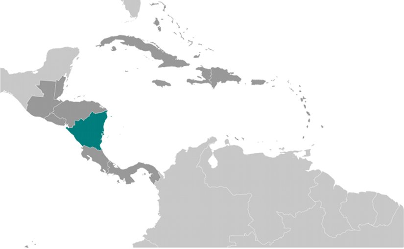 Location of Nicaragua. Source: CIA World Factbook.