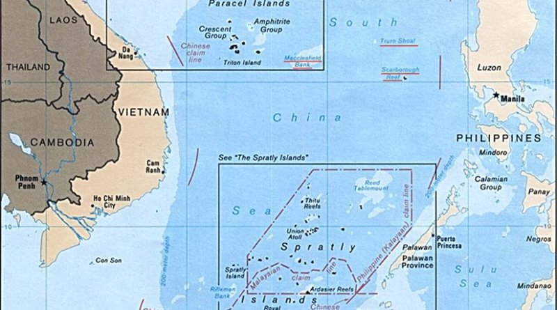 South China Sea. Source: U.S. Central Intelligence Agency, Wikipedia Commons.