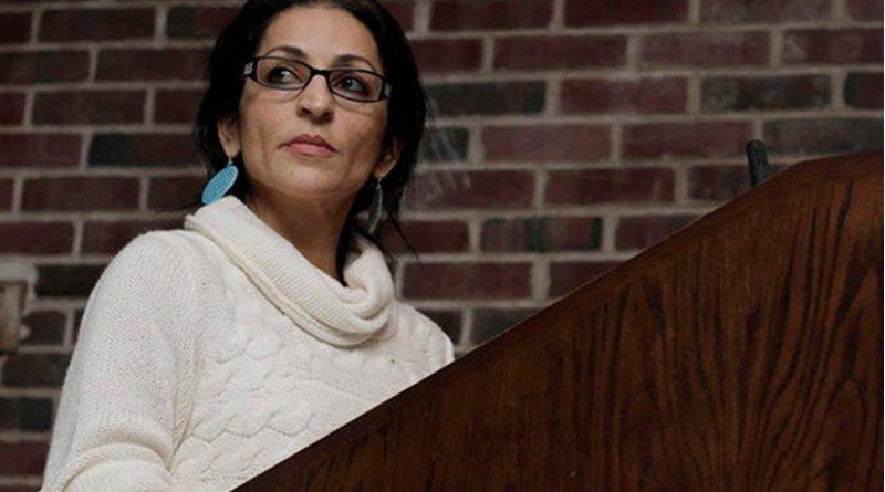 Susan Abulhawa, the renowned Palestinian American novelist and political commentator. Photo via Mondoweiss.net.