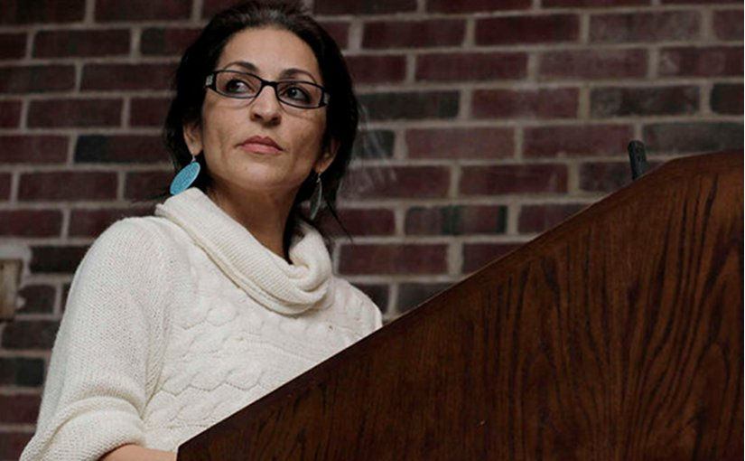 Susan Abulhawa, the renowned Palestinian American novelist and political commentator. Photo via Mondoweiss.net.