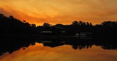 Sunset in the Amazon, Brazil