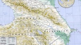 Map of Caucasus region prepared by the U.S. State Department, Wikipedia Commons.