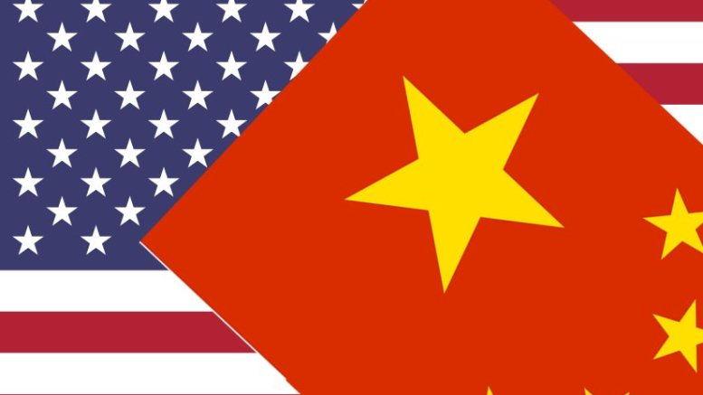 Flags of China and United States
