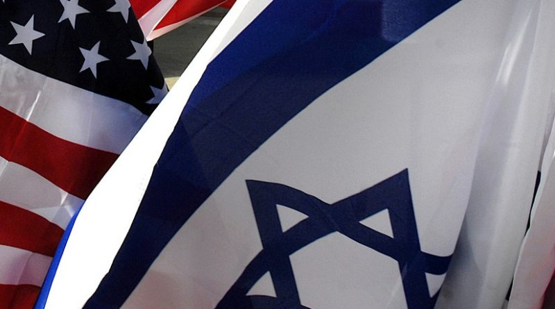Flags of Israel and United States