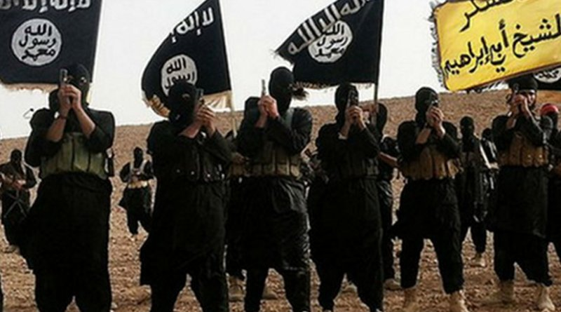 Fighters belonging to the Islamic State group in Anbar, Iraq. Photo from Islamic State propaganda.