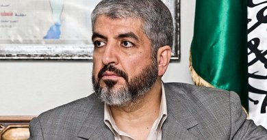 Current Hamas leader, Khaled Meshaal. Photo by Trango, Wikipedia Commons.