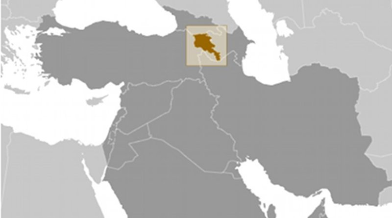 Location of Armenia. Source: CIA World Factbook.