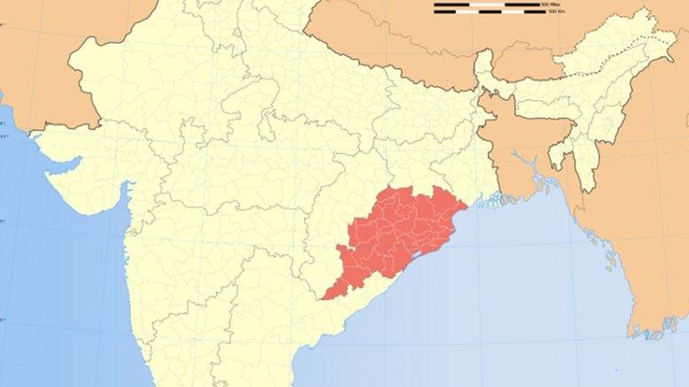 Location of Odisha in India. Source: Wikipedia Commons.