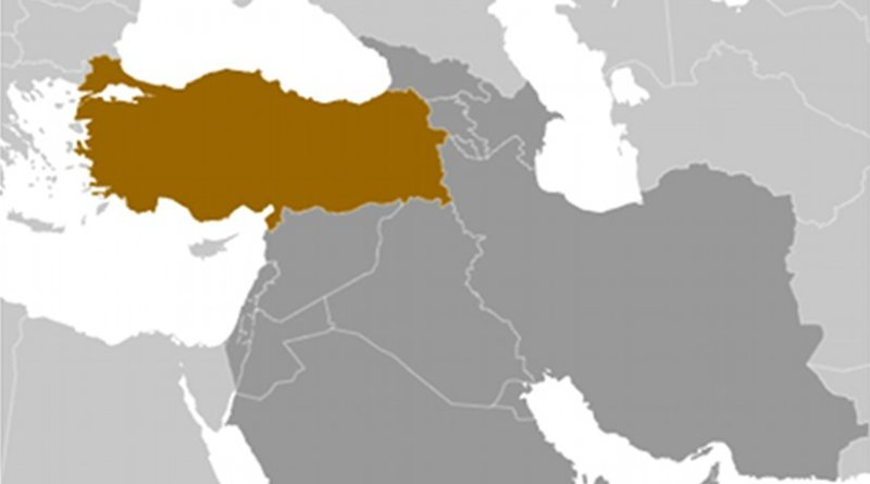 Location of Turkey. Source: CIA World Factbook.