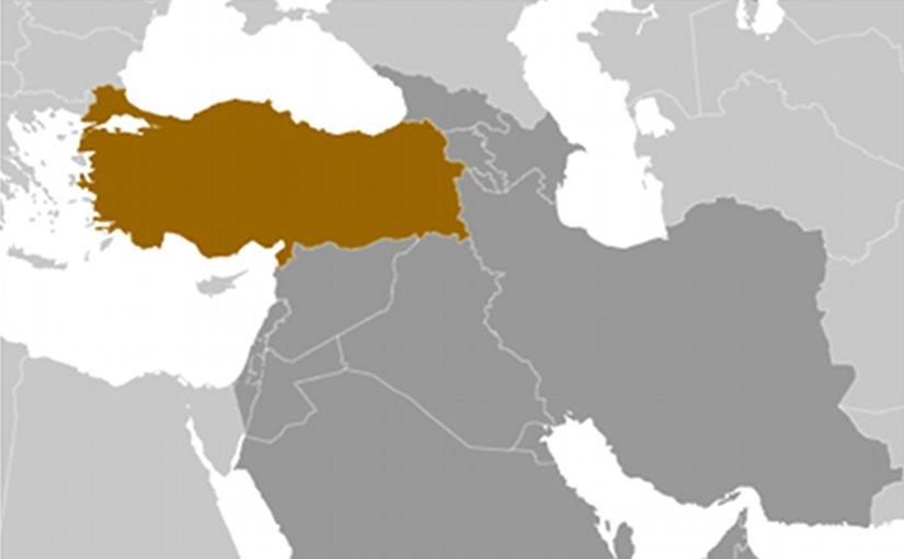 Location of Turkey. Source: CIA World Factbook.