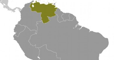 Location of Venezuela. Source: CIA World Factbook.