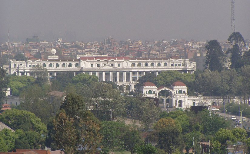 Singha Durbar, the seat of Nepal's government. Photo by Sigismund von Dobschütz, Wikipedia Commons.