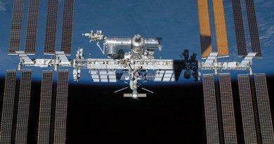 International Space Station viewed over Earth's horizon (NASA)