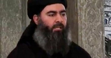 Islamic State's Abu Bakr al-Baghdadi. Photo by Al-Furqān Media, official media arm of Islamic State terrorist group.