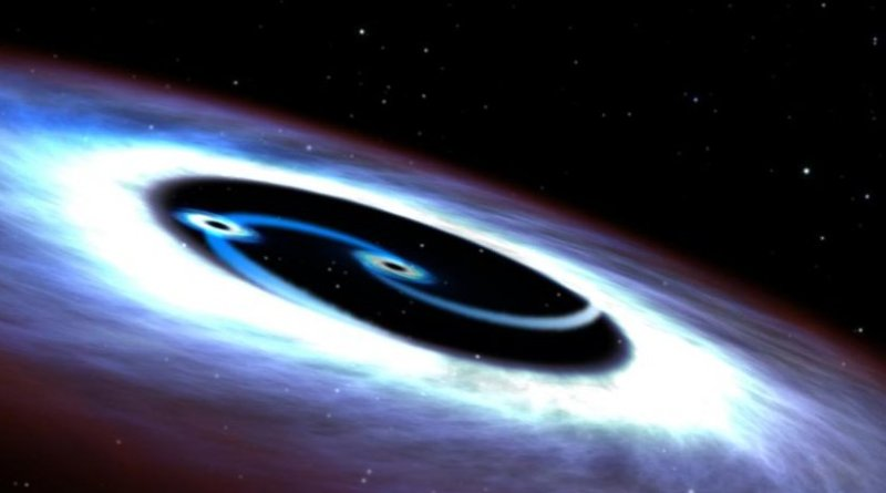 OU astrophysicist and his Chinese collaborator used observations from NASA's Hubble Space Telescope to find two supermassive black holes in Markarian 231. Credit Space Telescope Science Institute, Baltimore, Maryland