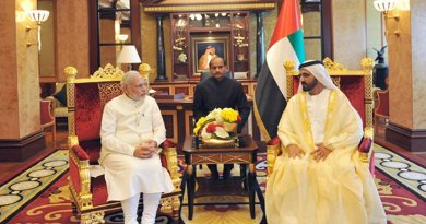 Prime Minister of India Shri Narendra Modi visited the United Arab Emirates from 16-17 August 2015 at the invitation of His Highness Crown Prince Mohamed Bin Zayed AI Nahyan. Photo Credit: Government of India, Prime Minister's office.