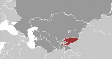 Location of Kyrgyzstan. Source: CIA World Factbook.