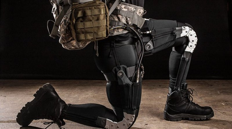Robotic exoskeletons for warfighters help reduce injuries and fatigue and improve Soldiers' abilities to perform missions efficiently (DARPA/Boston Dynamics)