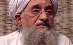 Ayman al-Zawahiri, leader of al-Qaeda. Credit: Screenshot taken from video, Wikipedia Commons.