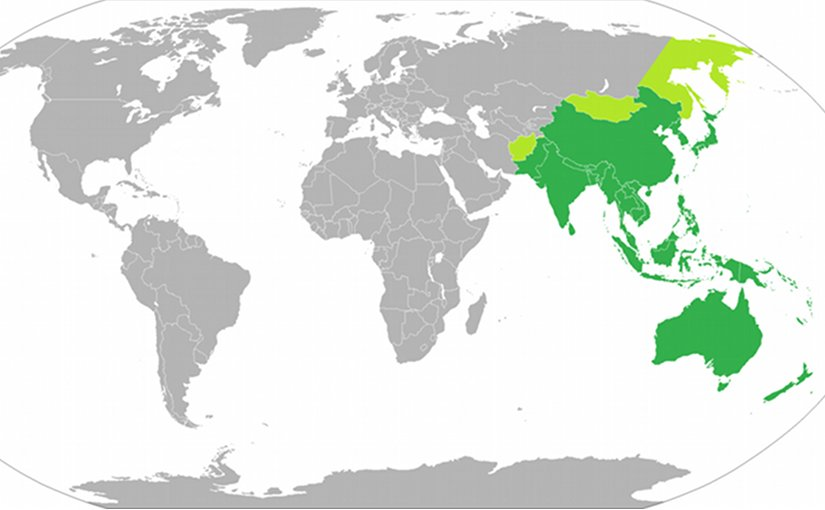 Asia-Pacific region. Source: Wikipedia Commons.