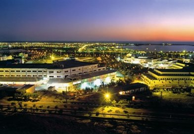 Iran's Chabahar Port at night. Photo Credit: Ksardar1359, Wikipedia Commons.