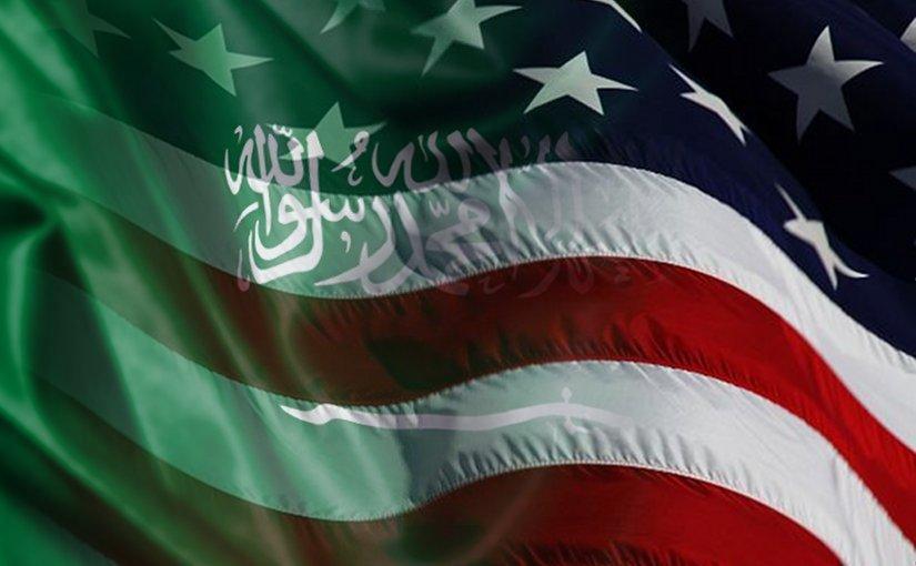 Flags of Saudi Arabia and United States