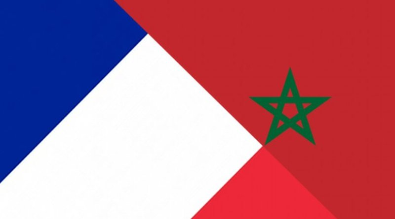 France and Morocco flags