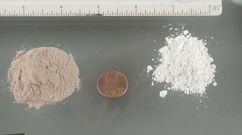 Two types of heroin. Photo Credit: US DEA.