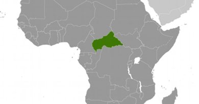 Location of Central African Republic. Source: CIA World Factbook.