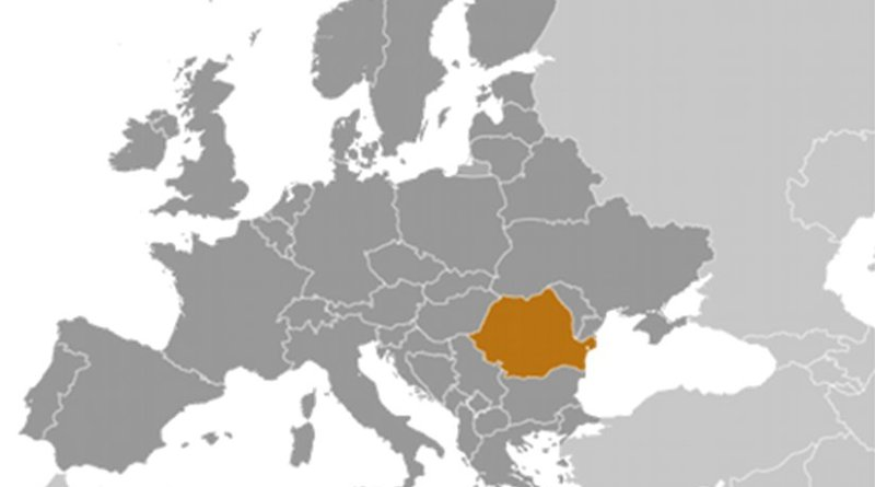 Location of Romania. Source: CIA World Factbook.