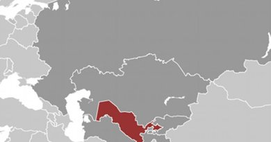 Location of Uzbekistan. Source: CIA World Factbook.