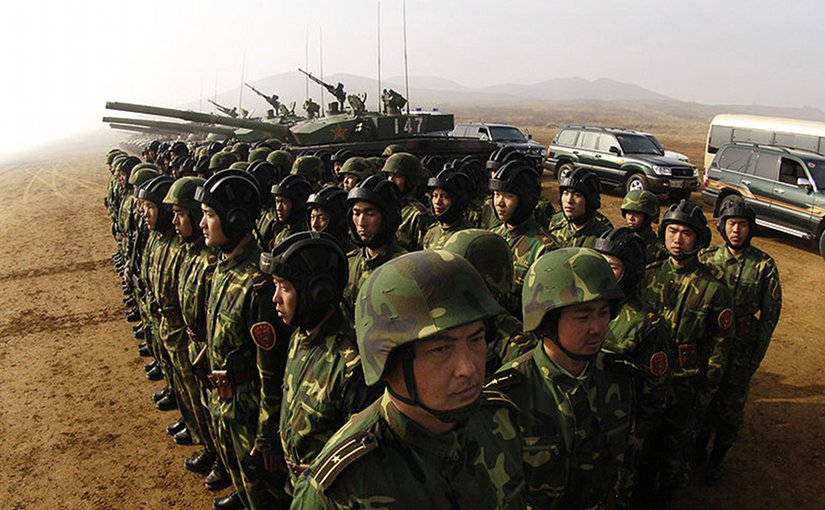 Soldiers with the People's Liberation Army at Shenyang training base in China. DoD photo by Staff Sgt. D. Myles Cullen, U.S. Air Force.