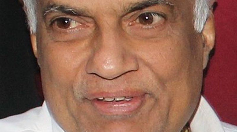 Sri Lanka's Ranil Wickremesinghe. Photo by Vikalpa, Groundviews, Wikipedia Commons.