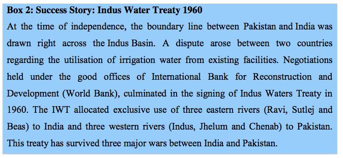 Box 2: Success Story: Indus Water Treaty 1960